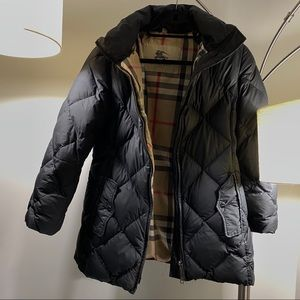 Burberry Quilted Down Zipper Jacket